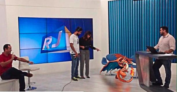 RJ1 entra na febre mundial Pokemon GO (Foto: Reprodução/ Rede Social)