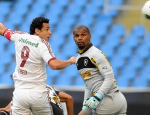 Fred e Jefferson, Botafogo x Fluminense (Foto: Dhavid Normando / Photocamera)