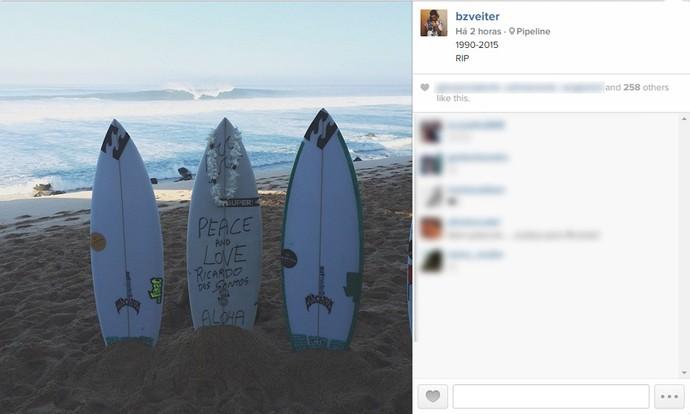 Homenagem Ricardo Santos (Foto: Reprodução/ Instagram)
