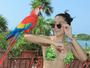 Jacqueline Sato curte férias com o namorado em Cancun