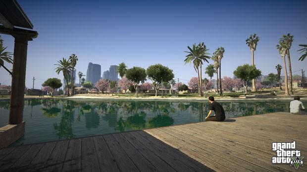 Imagem de 'GTA V' mostra parque na cidade de Los Santos, versão fictícia de Los Angeles (Foto: Divulgação)