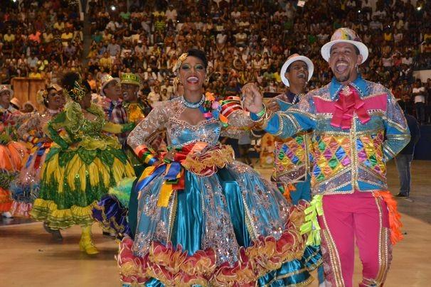 A cor e o brilho das quadrilhas juninas encantam o público e os competidores (Foto: Divulgação/ TV Sergipe)
