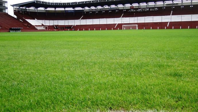 lanus estádio La Fortaleza atletico-mg (Foto: Leonardo Simonini)