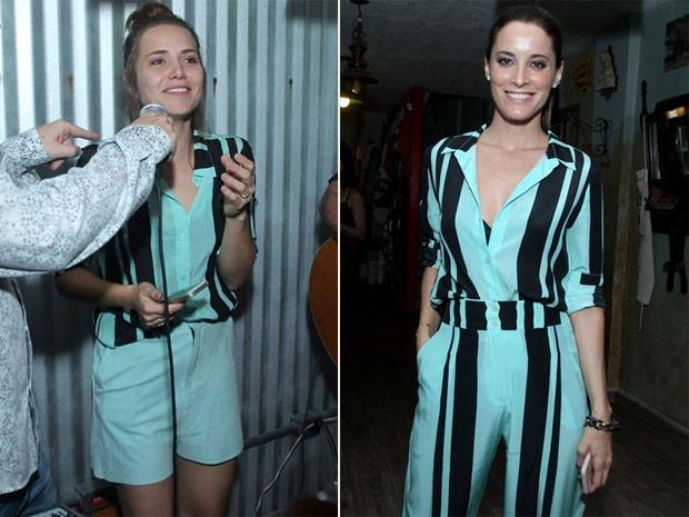 Letícia Colin e Maria João Bastos em festa na Zona Oeste do Rio (Foto: Marcello Sá Barretto/ Ag. News)