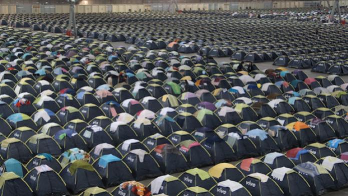Tradicional acampamento da Campus Party (Foto: Fabrício Victorino/TechTudo)