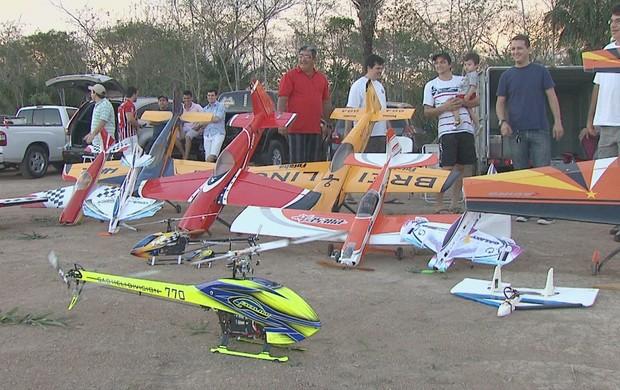 Aeromodelismo vira sensação em Rio Branco, capital do Acre (Foto: Reprodução/TV Acre)