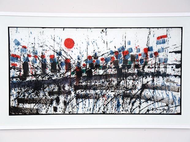 """Obra """"Abstração"""", por Antonio Bandeira, de 1964. Acervo da Fundação Edson Queiroz (Foto: Ares Soares/Unifor)"""