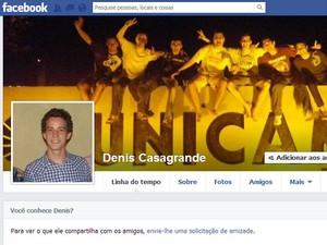 Universitário de 20 anos morre após ser esfaqueado durante festa na Unicamp, em Campinas  (Foto: Reprodução / Facebook)