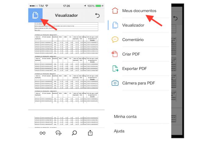 Visualizando o documento PDF no Adobe Acrobat para iPhone (Foto: Reprodução/Marvin Costa)