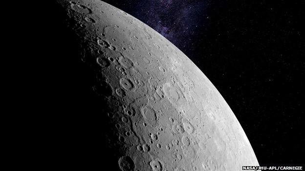 O esfriamento da porção mais interna de Mercúrio teria resultado em um encolhimento de 7km (Foto: NASA/JHU-APL/CARNEGIE)