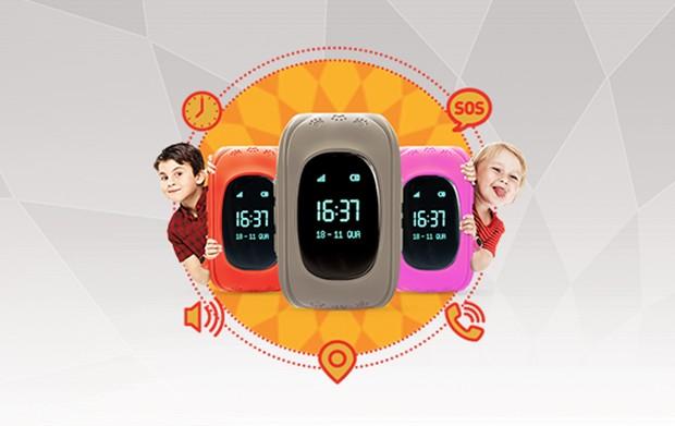 O novo Claro Kids On é um relógio celular. Com ele, os pais ficam por dentro de tudo que acontece com seus filhos (Foto: Divulgação)