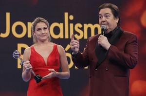 Fernanda Gentil vai às lágrimas durante agradecimento (Felipe Monteiro/ Gshow)
