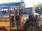 Ônibus que seria transformado em food truck é incendiado no RN