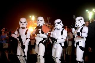 Stormtroopers no Rock in Rio (Foto: Roberto Teixeira / EGO)