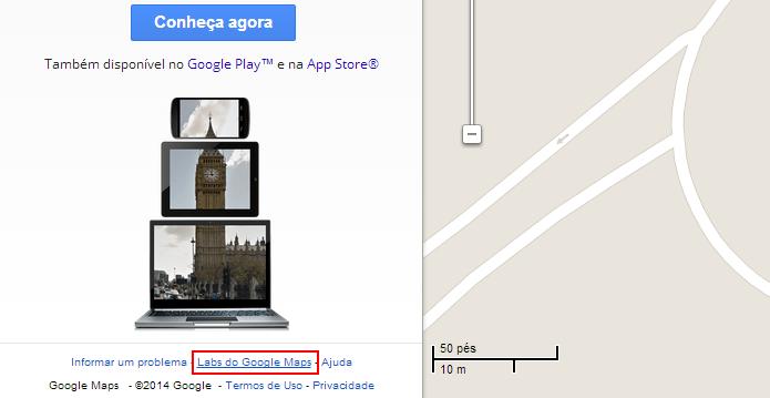 Abra o Labs do Google Maps (Foto: Reprodução/Helito Bijora)