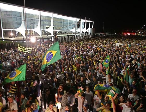 Manifestação do dia 16 de março em Brasília (Foto: AP)