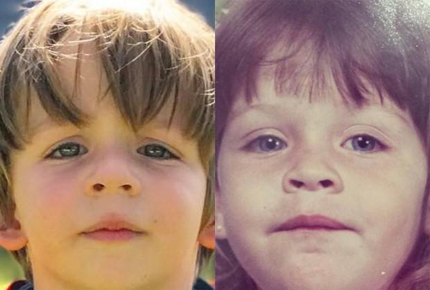 Antônio, filho de Luma Costa (à direita, ainda criança) (Foto: Reprodução/Instagram)