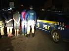 Três homens são presos em flagrante por tráfico de drogas na BR-290