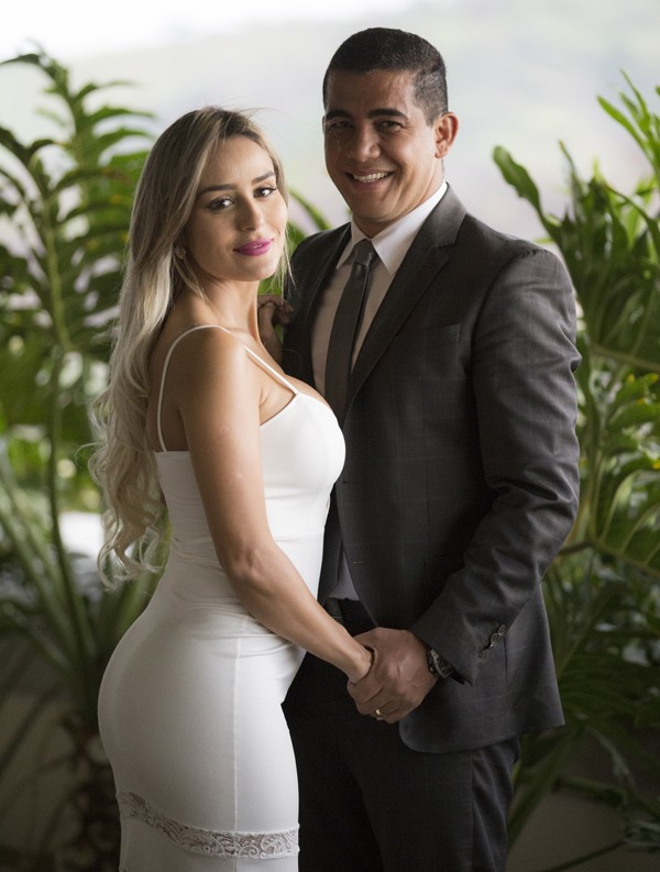 Letícia Santiago e  Miguel Corrêa Junior (Foto: Raphael Martinelli)