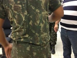Marido suspeito da agressãqo foi levado à Central de Flagrantes (Foto: Marcelo Marques/ G1 RR)