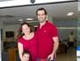 Mariana Belém deixa maternidade com a filha recém-nascida