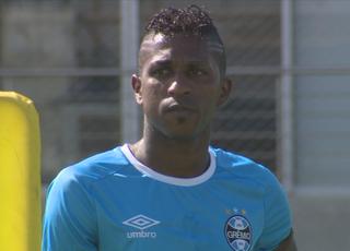 Miller Bolaños Grêmio treino  (Foto: Reprodução/RBS TV)