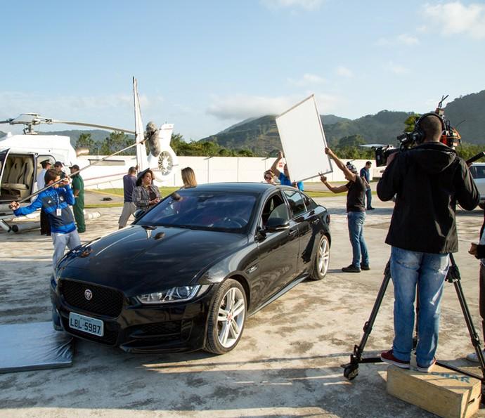 As gravações contaram a mobilização de aproximadamente 100 profissionais (Foto: Fabiano Battaglin/Gshow)