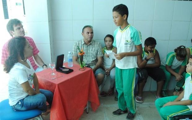 Joaninha conversou com os alunos sobre inclusão social (Foto: Divulgação/SME)