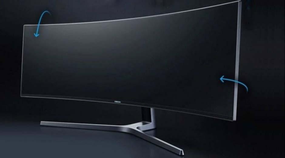 O monitor usa tecnologia QLED e tem resolução de Full HD duplo (Foto: Reprodução)