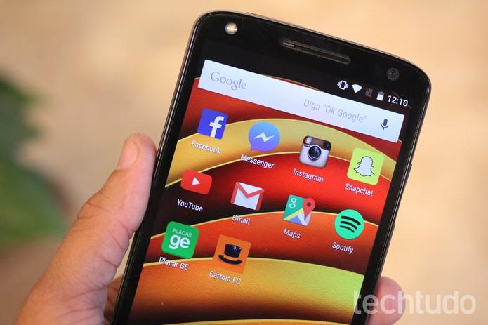 Moto X Force roda Android 5.1 Lollipop (Foto: Luana Marfim/TechTudo)