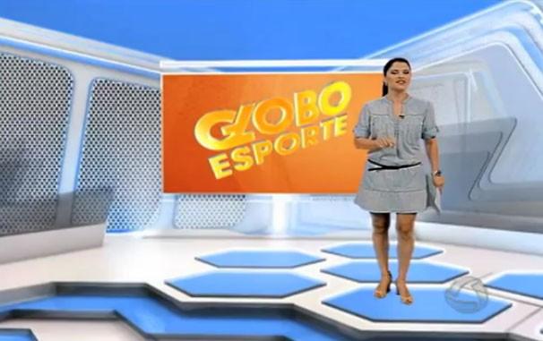 Globo Esporte MS ganha cenário novo com padrão nacional. (Foto: Reprodução/TVMO)