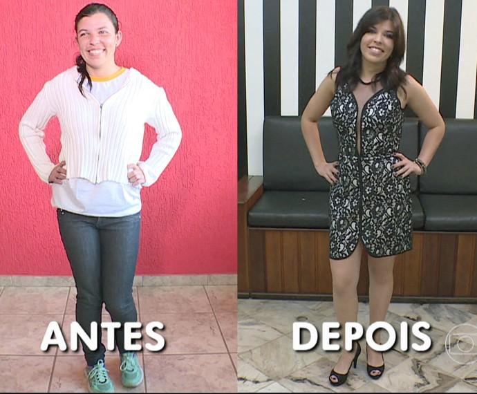 Confira o antes e o depois de Gislaine, participante do 'Você Mais Poderosa' (Foto: TV Globo)