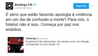 Twitter Botafogo e Flamengo (Foto: Reprodução)