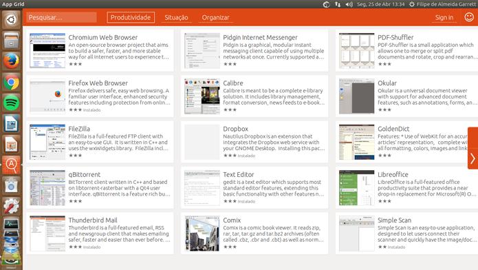 AppGrid é uma loja de apps alternativa que vale à pena considerar no seu sistema Ubuntu (Foto: Reprodução/Filipe Garrett)