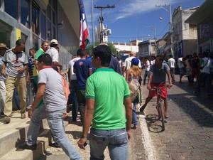 Banco foi assaltado em Mundo Novo, na Bahia (Foto: Vilobaldo Costa Junior/Acervo Mundo Novo)