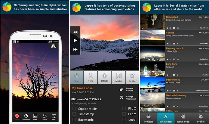 Lapse It é um aplicativo para Android que faz vídeos em time-lapse e tem editor embutido (Foto: Divulgação/Play Store)