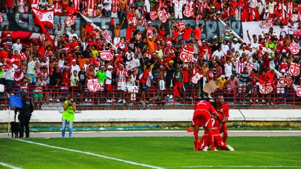 CRB, comemoração do gol (Foto: Jonathan Lins/G1)