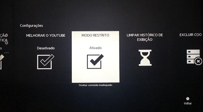 Ative o modo restrito do YouTube (Foto: Reprodução/Helito Bijora)