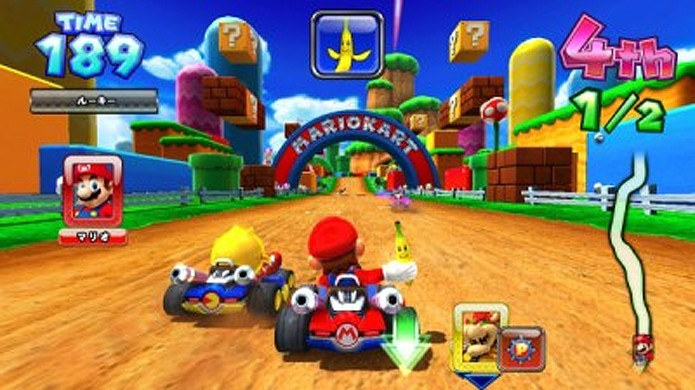 Mario Kart Arcade GP colocava o mascote da Nintendo para disputar corridas com Pac-Man (Foto: Reprodução/Wikipedia)