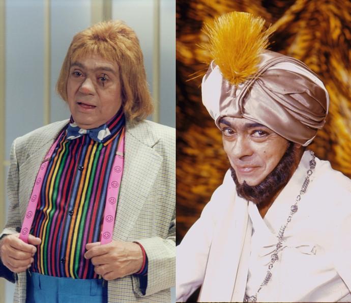 Chico Anysio como Cascata e Divino (Foto: TV Globo/Divulgação)