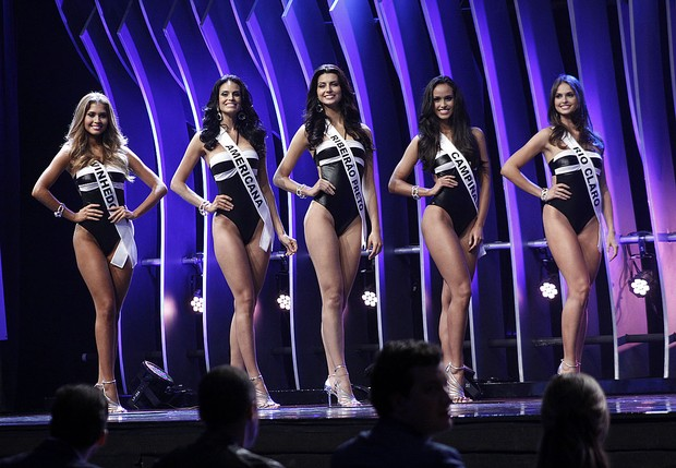As cinco finalistas do Miss São Paulo 2015 (Foto: Celso Tavares / EGO)