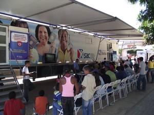 SAC Móvel em Camaçari (Foto: Adenilson Nunes/Divulgação)