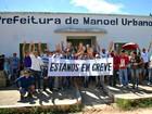 Após greve de servidores, prefeito de Manoel Urbano anuncia cortes