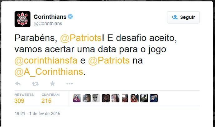 Corinthians, futebol americano (Foto: Twitter)