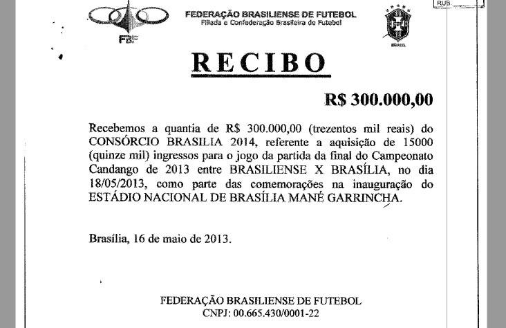 Nota fiscal entregue por Andrade Gutierrez para comprovar compra de ingressos a pedido de Agnelo (Foto: Reprodução)