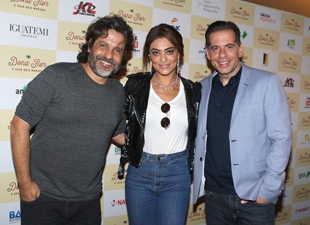 Pedro Vasconcellos, Juliana Paes e Leandro Hassum (Foto: Thiago Duran/AgNews)