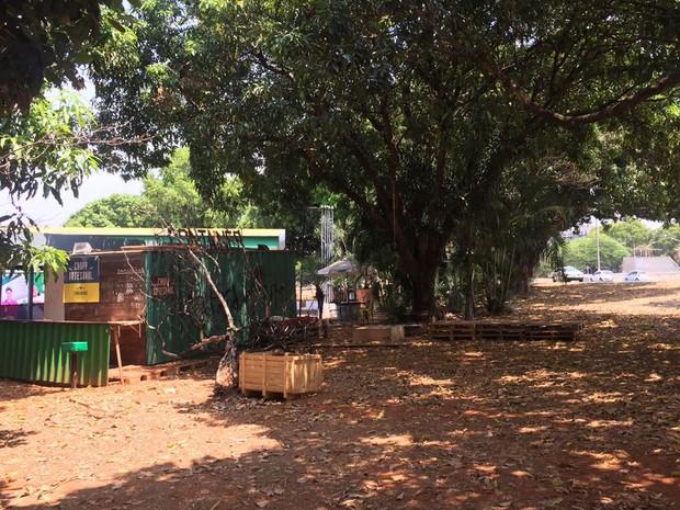 Cont Ainer Bar, que sedia o evento Buraco do Jazz, na área central de Brasília (Foto: Alexandre Bastos/G1)
