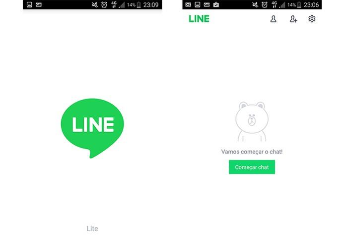 Line Lite oferece interface mais leve e focada no chat (Foto: Reprodução/Barbara Mannara)
