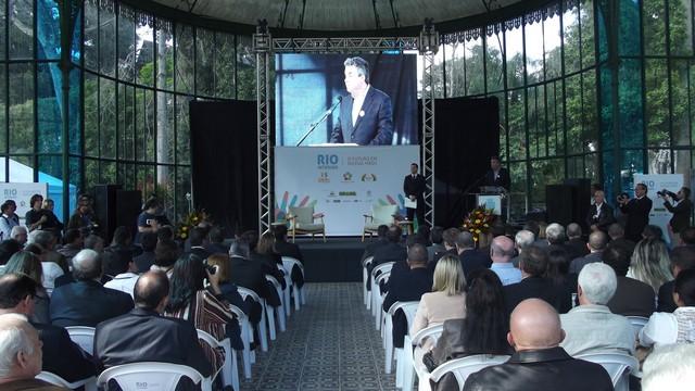 Lançamento do Projeto Rio Interior, apoiado pela Inter TV RJ, no Palácio de Cristal (Foto: Andreia Constâncio)