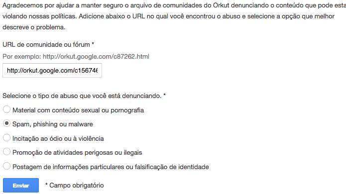 Informe o conteúdo da denúncia (Foto: Reprodução/Helito Bijora)